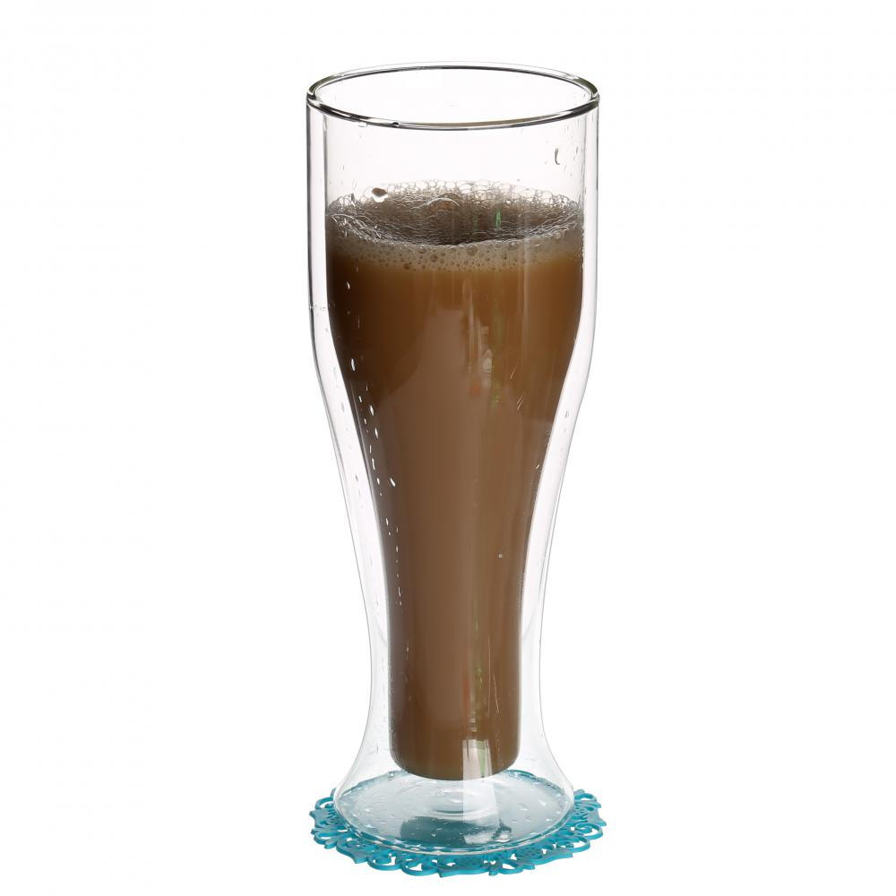 Double Wall Thermal Glass Drinkware For Coffee