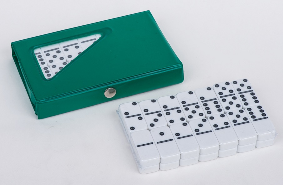 White Dominoes In Pvc Box