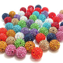Mode Kristallkugel Schmuck Lose Perlen Erkenntnisse Kristall Disco Shamballa Perlen