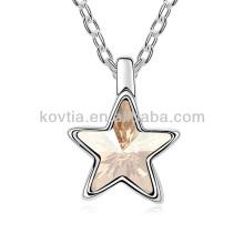 Ожерелье рог кулон дизайн звезда кулон ожерелье для девочек белое золото ожерелье