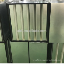 Filtro de aire de gran capacidad con marco de banco V