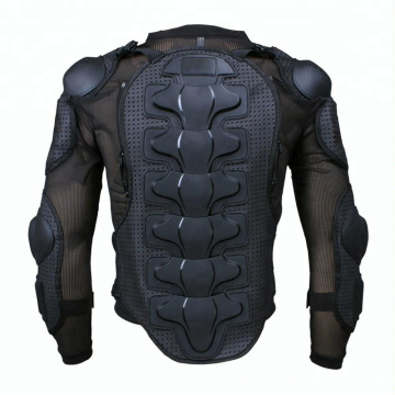 Motorcycle Full Body Armor Protector Pro Street Motocross ATV Guard Shirt Jacket with Back Protection Black
