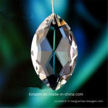 Perle en verre cristal pour lustre