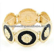 Punk Style Chunky Lion Head Stretchy Bracelet12011613