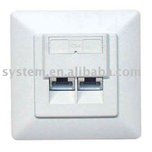 Unshilded 80*65 shilded 80*65 network face plate