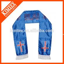 2014 OEM оптовой двойной слои футбола вентилятора полиэстер спорта шарфы