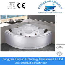 Hot Sale for Sector 2 Person Bathtub Triangle corner tub jacuzzi spa bathtub supply to United States Exporter