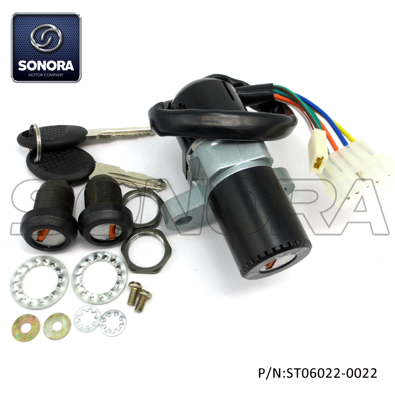 ST06022-0022 DERBI SENDA 5 wires lock set (3)