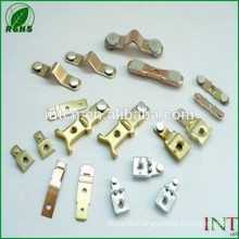 Rhos UL approved high quality Electronic Accessories silver nickel point bimetal rivets