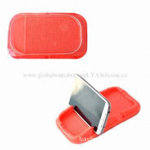 Magic Sticky Silicone Pads for Mobile Phones/GPS/MP3/MP4 Players, Recyclable, Environment-friendly