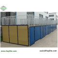 Good quality temporary stables for horse used on horse farm