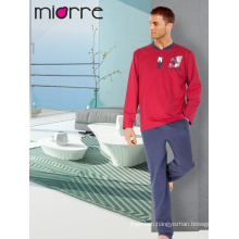 Miorre Men's Sleepwear Cotton Long Sleeve Pajamas Set