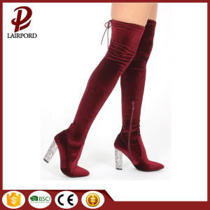 Crystal high heel over the knee boots