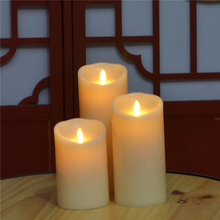 Flameless parpadeo LED velas con llama en movimiento