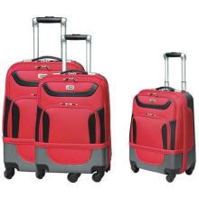 Fábrica fácil carregar na série de vermelho clássico da bagagem do trole