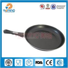 poêle à frire en acier au carbone plat antiadhésif