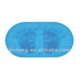 oval pvc anti slip bath mat