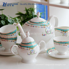 Hot Sale Unique Design Western Style Colorful Ceramic Coffee Canister Set, Fine Bone China funky Tea Sets