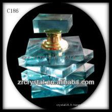 Belle bouteille de parfum en cristal C186