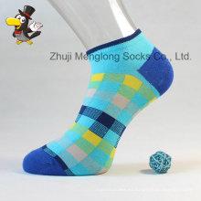 Estilo clásico patrón de control calcetines color brillante mujer algodón calcetines hechos de buena calidad algodón