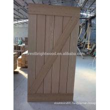 Interior Modern Sliding Barn Door with Black Barn door Hardware