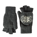 White Black Snowflake Warm Rajutan Gloves