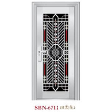 Puerta de acero inoxidable para exteriores (SBN-6711)