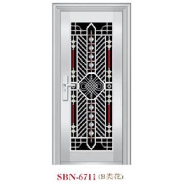 Porta de aço inoxidável para a luz do sol exterior (SBN-6711)