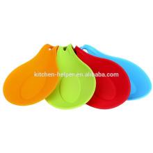 Силиконовые Кухонные Посуда Holder Суп Spoon Holder