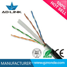 Outdoor 2/4 pair UTP/FTP/STP/SFTP cat6 lan cable 100m 305m