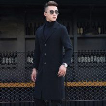 Men's Cashmere Knee Length Overcoat