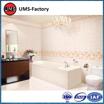 Wood effect tiles white in shower