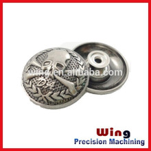 customized die casting factory supply metal zamak button