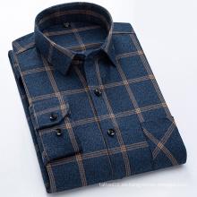 Camisa de manga larga de franela para hombre