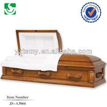 Tissus en intérieurs exquis américain manche en bois simple cercueil