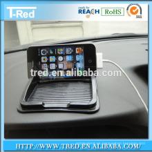 Tenedor antideslizante material del teléfono de la estera de la PU, tenedor del teléfono móvil para el coche