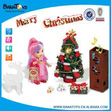 Luz e música decorada árvores de Natal para venda