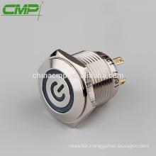 CMP waterpoof illuminated 16mm momentary power switch