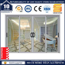 Doppelverglasung Interieur Aluminium Schiebetopf Glas Türen