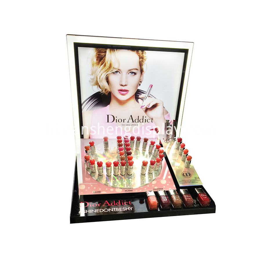 cosmetics display stand showcase