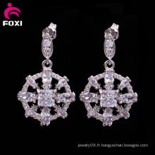 Conceptions italiennes de boucle d'oreille de bijoux de costume avec des bijoux de pierre gemme