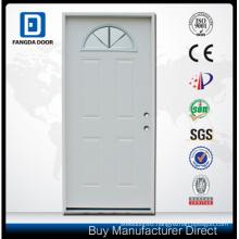 Fangda Pre-Hung Exterior Fanlite Glass Steel Door