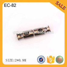 EC81 High quality antique bronze metal drawstring cord end,custom spring end stopper,metal cord end for rope