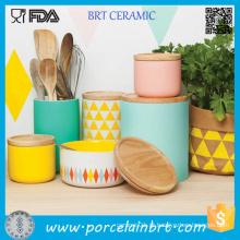 Caixas de vaso de cerâmica para café Caixas de café para vasilha de cozinha