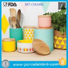 Керамические канистры канистры наборы чай кофе кухня Канистра комплект