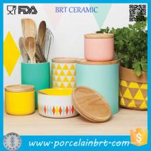Vasilha cerâmica define vasilhas de café de chá para conjunto de vasilha de cozinha