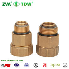 """Brass Hose Swivel Connector with BSPT NPT 1"""" X 1"""""""