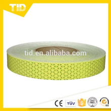 Metalized prismatic reflective tape, fluorescent yellow green