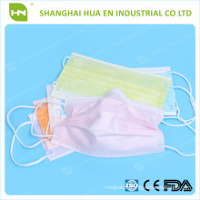 Orange PP Non woven face mask