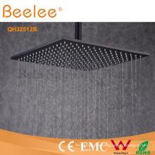 Cabeza de ducha de lluvia de latón orbe negro LED